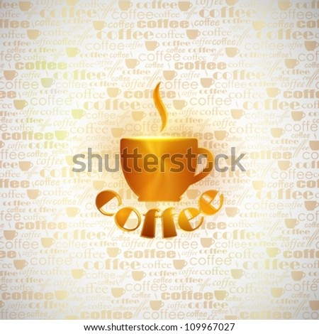 abstract background with coffee cup - stock vector