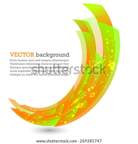 Abstract background with color rectangles - stock vector
