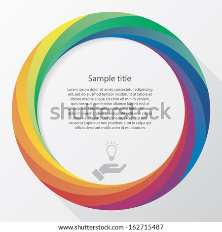 Abstract background with color wheel and white free space for sample text. Vector. - stock vector