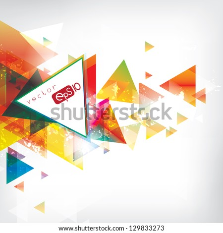 abstract background with colored elements - stock vector