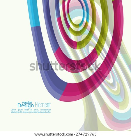 Abstract background with colored Hypnosis shape. For cover book, brochure, flyer, poster, magazine, booklet, leaflet, cd cover design, mobile app, annual report template. vector - stock vector