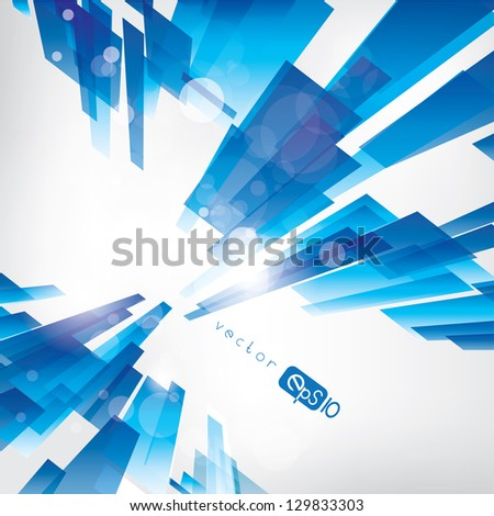 abstract background with colored lines - stock vector