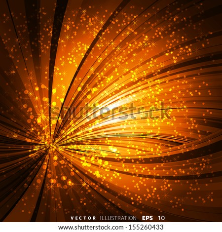 Abstract background with colored lines and light - stock vector