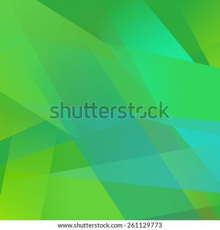 Abstract background with colorful green overlapping transparent layers - stock vector