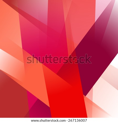 Abstract background with colorful red overlapping transparent layers - stock vector