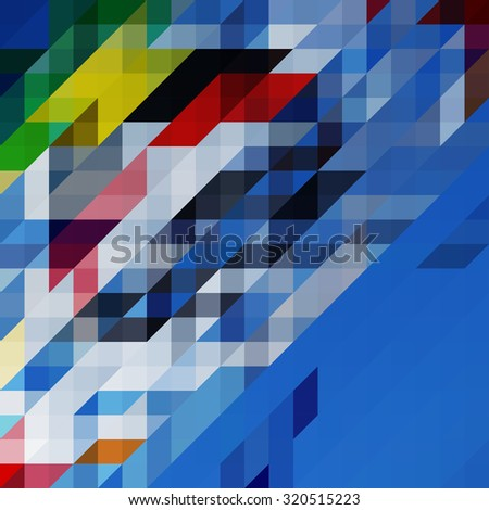 Abstract background with colorful triangle - stock vector