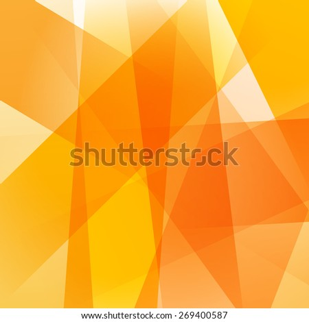 Abstract background with colorful yellow overlapping transparent layers. - stock vector