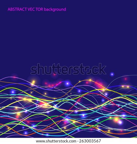abstract background with colors light lines. Universal vector for your presentation - stock vector