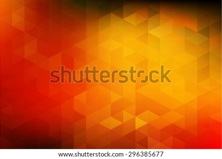 Abstract background with colors of autumn leafs - stock vector