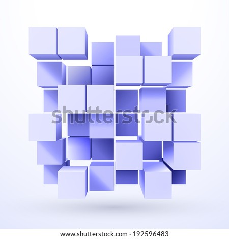 Abstract background with cubes. Vector EPS10 - stock vector