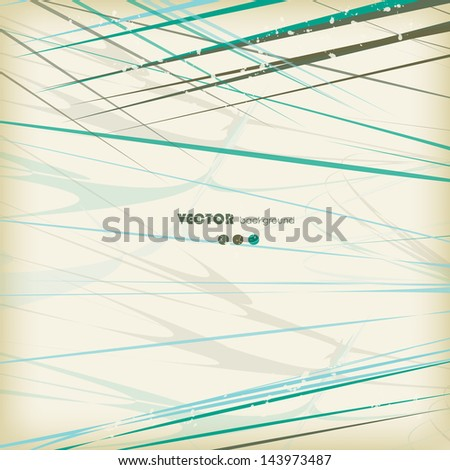 abstract background with curved lines - stock vector