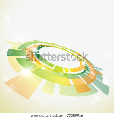 Abstract background with 3D  object and place for your text - stock vector