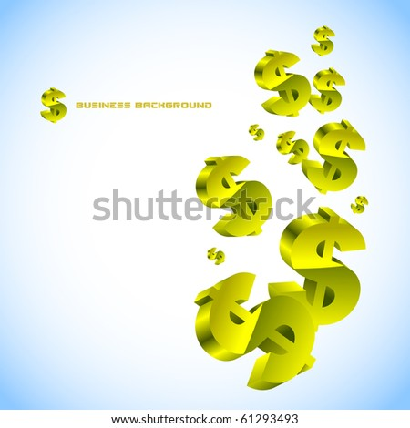 Abstract background with dollar. Vector illustration. - stock vector