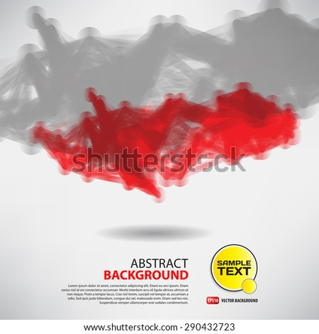 Abstract background with dots and lines on theme digital technology and internet - stock vector