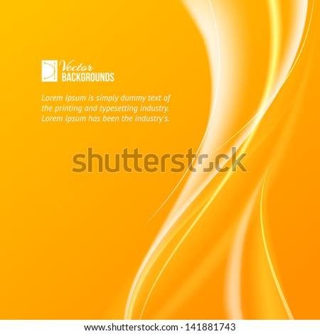 Abstract background with flame. Vector illustration, contains transparencies, gradients and effects. - stock vector