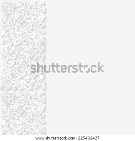 Abstract background with floral pattern. Vector illustration  - stock vector