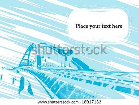 Abstract background with free space for your text - stock vector