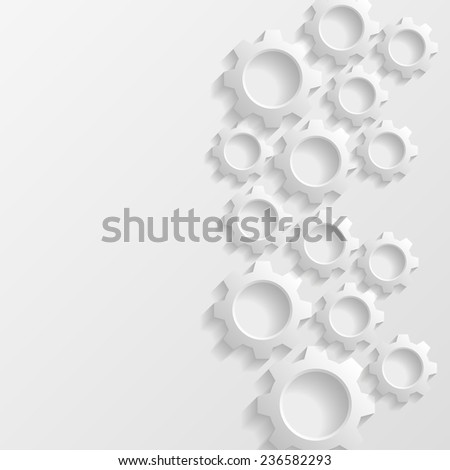 Abstract background with gears. Vector illustration  - stock vector