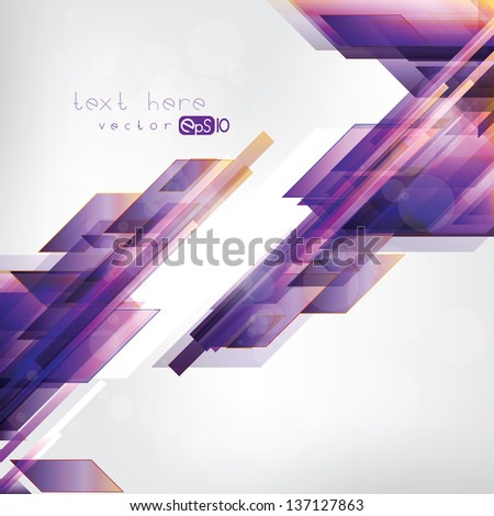 Abstract background with geometric elements - stock vector