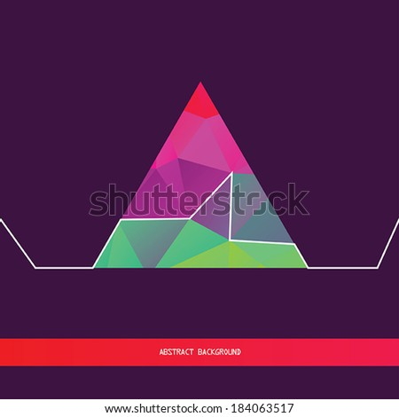 Abstract background with geometric shapes and lines. Stylish triangle pattern,backdrop design template. Vector illustration - stock vector