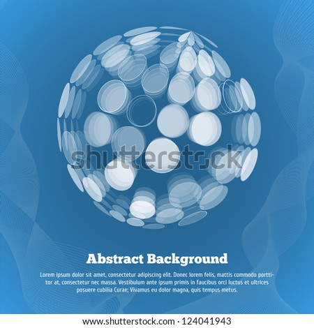 Abstract background with globe. - stock vector
