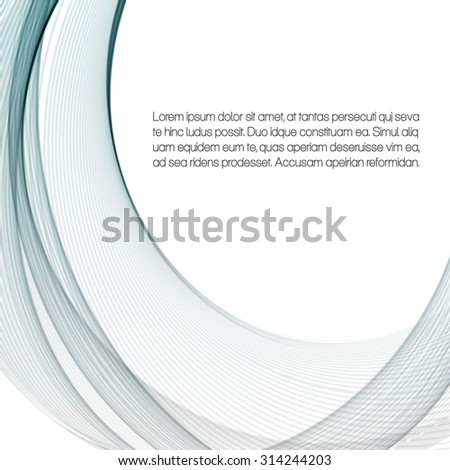 Abstract background with gray waves - stock vector