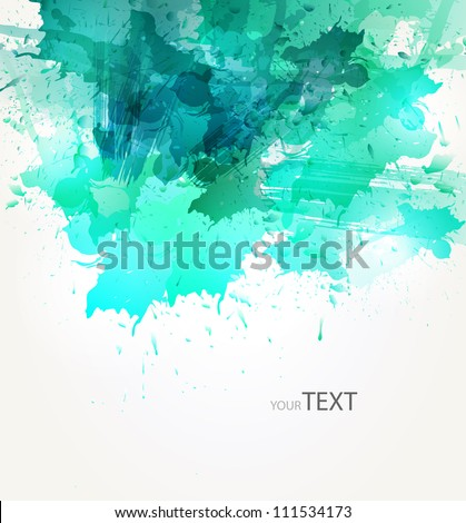 abstract background with green blots - stock vector