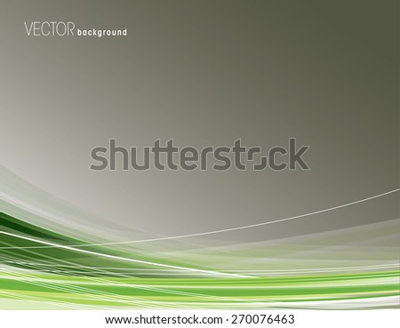 Abstract background with green curved lines. - stock vector
