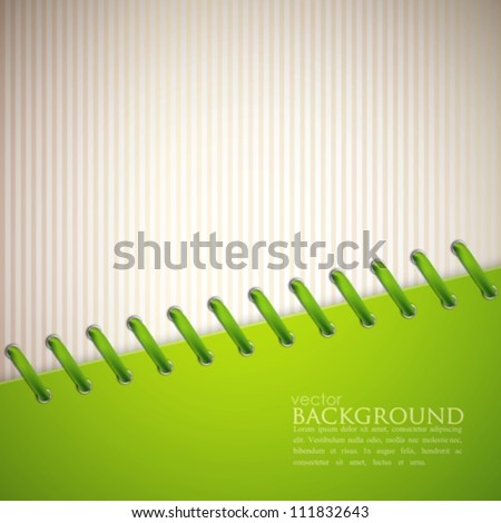 abstract background with green lace - stock vector