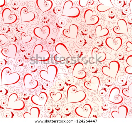 Abstract background with hearts - stock vector