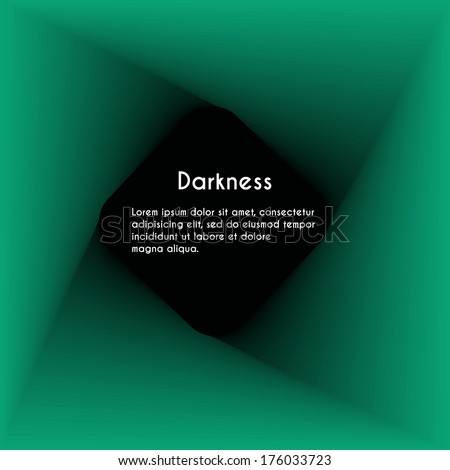 Abstract background with hole effect. Darkness  - stock vector