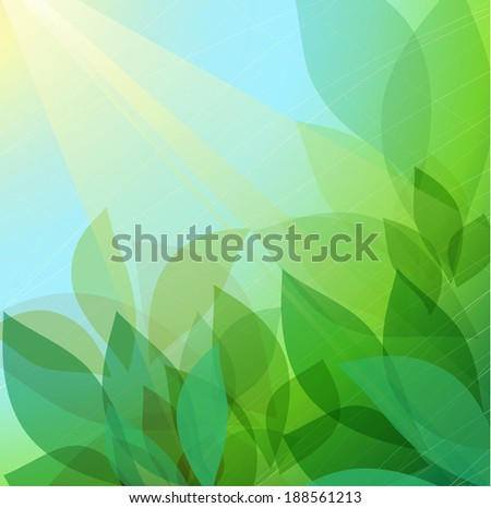 Abstract background with leaves - stock vector