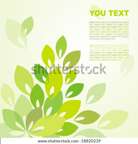 Abstract background with leaves of different colors - stock vector