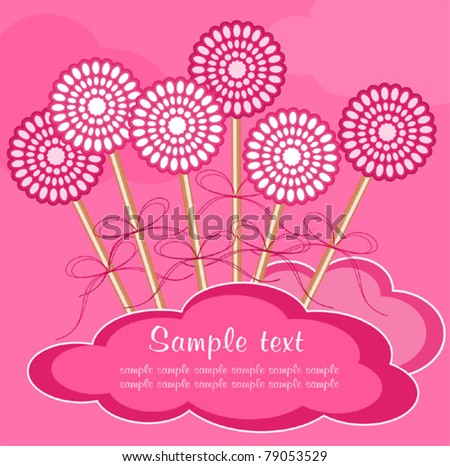 Abstract background with lollipops - stock vector