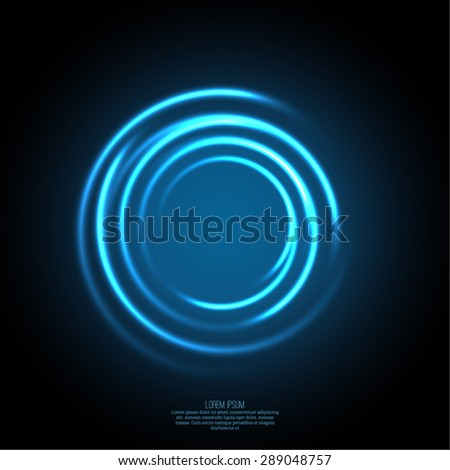 Abstract background with luminous swirling backdrop.  Intersection curves. Glowing spiral. The energy flow tunnel. Vector - stock vector