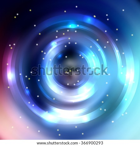 Abstract background with luminous swirling backdrop. Shiny swirl background.  Intersection curves. Blue, pink colors.  - stock vector