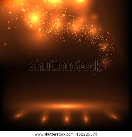 Abstract background with magic light. - stock vector