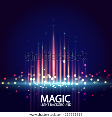 Abstract background with magic light. Vector illustration  - stock vector