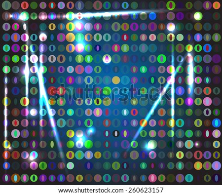 abstract background with many colors circles - stock vector
