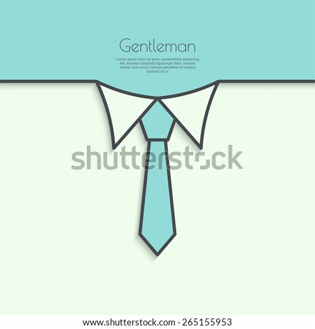 Abstract background with men ties. Shirt collar and necktie. For invitations to the celebration, birthday, birthday card, wedding - stock vector
