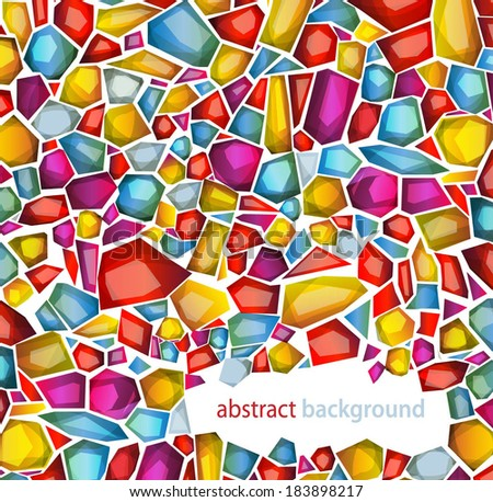 abstract background with mosaic patterrn - stock vector