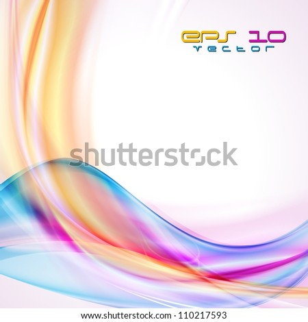 Abstract background with multicolored waves. Vector eps 10 - stock vector