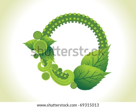 abstract background with natural concept frame - stock vector