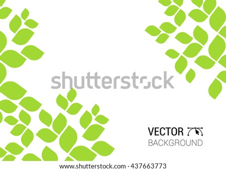 abstract background with nature green sheet leaves natural leaf tree pattern  - stock vector