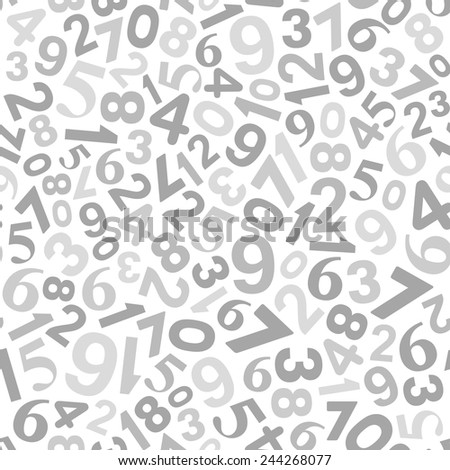 Abstract Background with Numbers. Vector Monochrome Illustration - stock vector