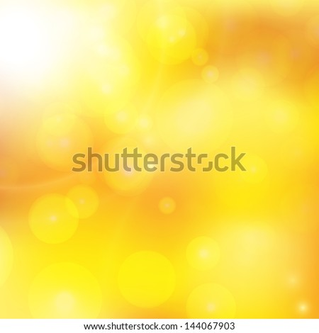 abstract background with orange sun rays - stock vector