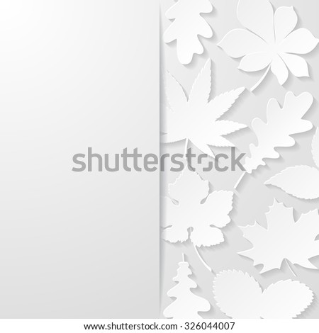 Abstract background with paper leaves. Vector illustration.  - stock vector