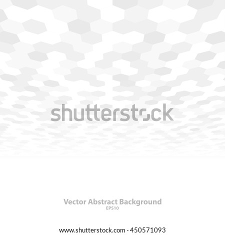 Abstract background with perspective. White and gray mosaic texture. Vector illustration - eps10. - stock vector