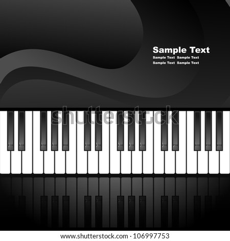 Abstract background with piano keys. EPS10 vector illustration. Contains opacity mask. - stock vector
