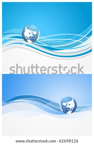 abstract background with planet - stock vector